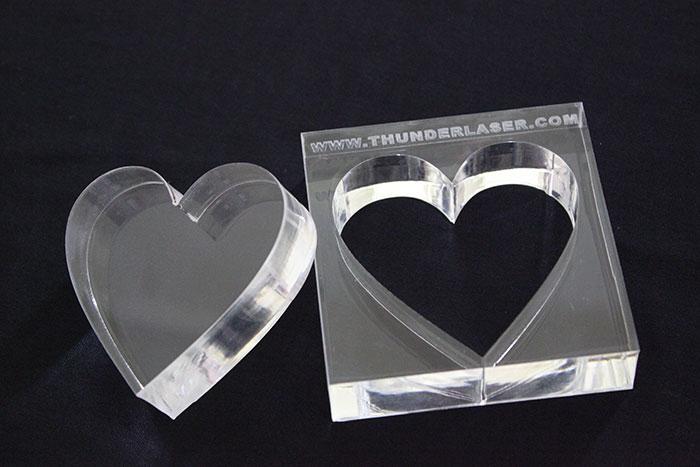 Акрил heart Лазерний станок