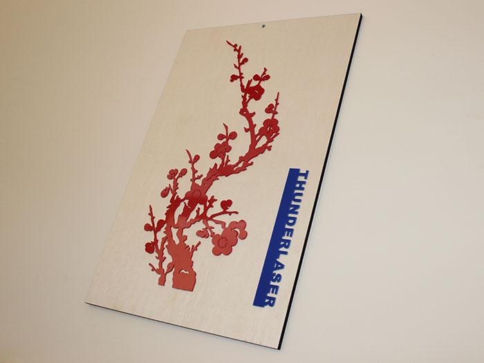 Акрил Plum blossom Лазерний станок