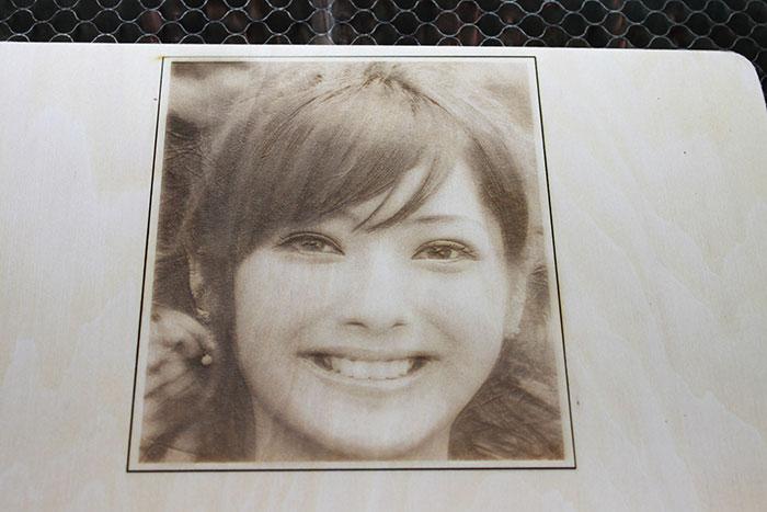 laser photo-engraving sample photo