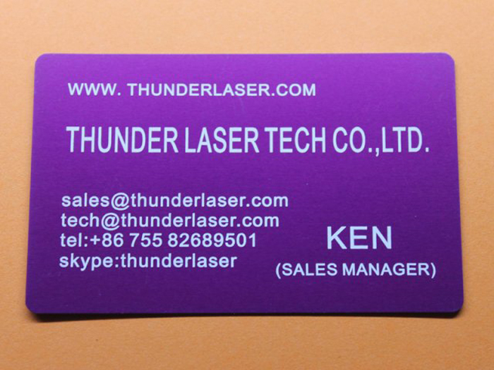 Nameplate Anodized-Aluminum laser engraver