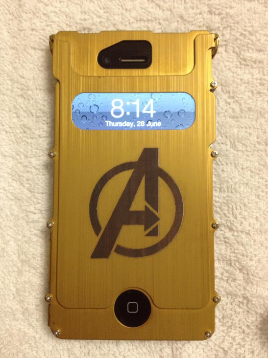 cellphone case Anodized-Aluminum laser engraver