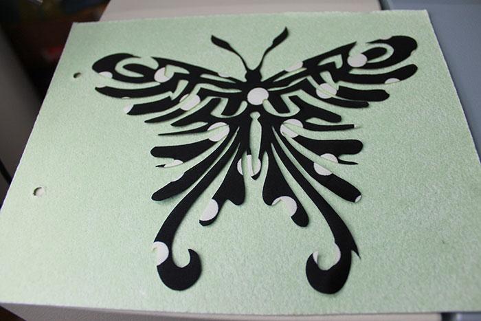 black butterfly Тканино-шкіряний лазерний різак