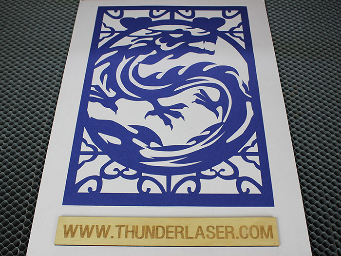 blue dragon Тканино-шкіряний лазерний різак