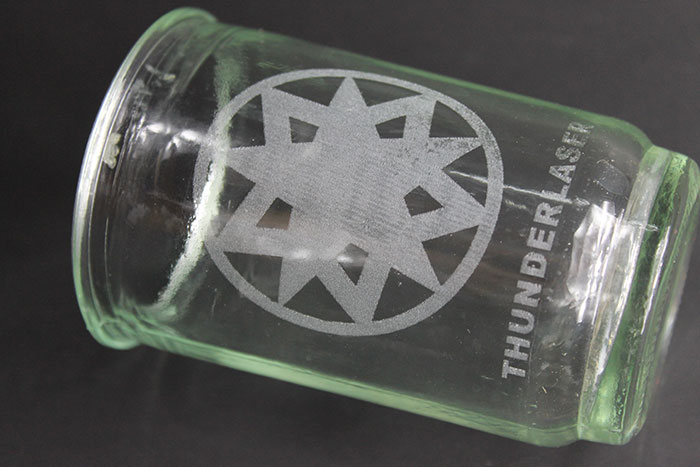 Glass cup laser engraver