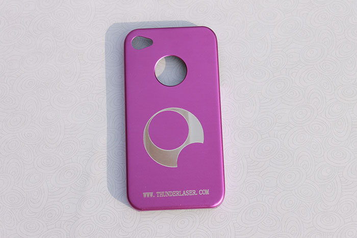 pink and red Mobile-Phone laser engraver