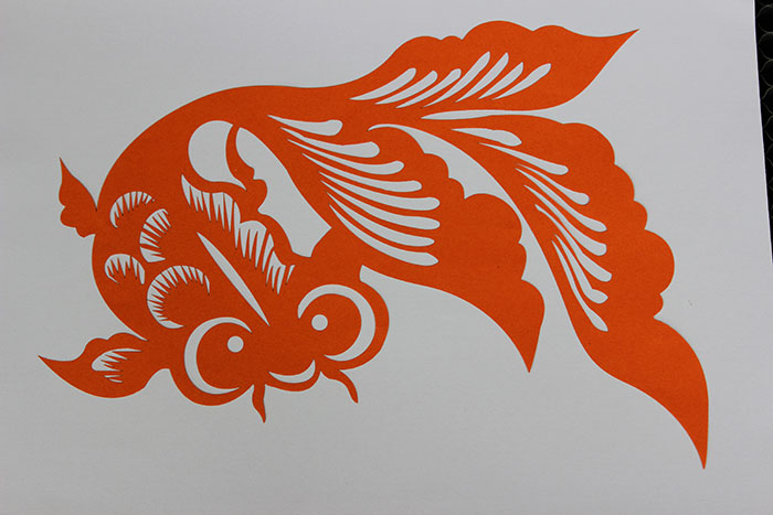red fish Paper laser cutter