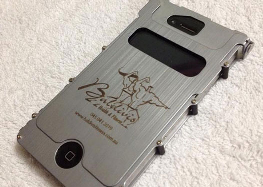 phone case Coated-Metal laser engraver
