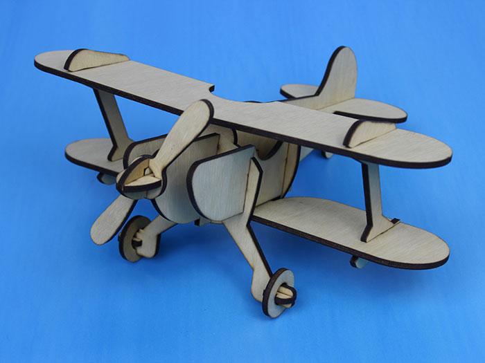 wood air plane Лазерний станок для фанери