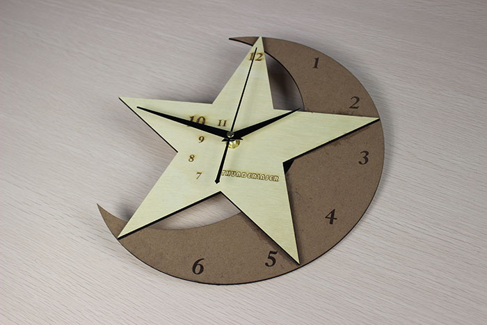 wood moon clock Лазерний станок для фанери