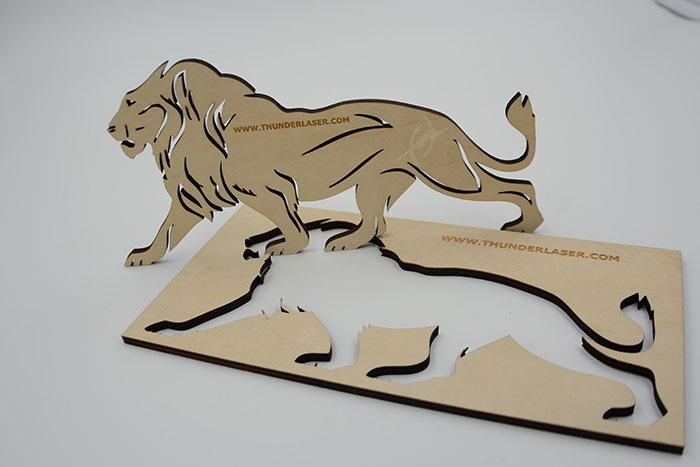 wood lion Лазерний станок для фанери