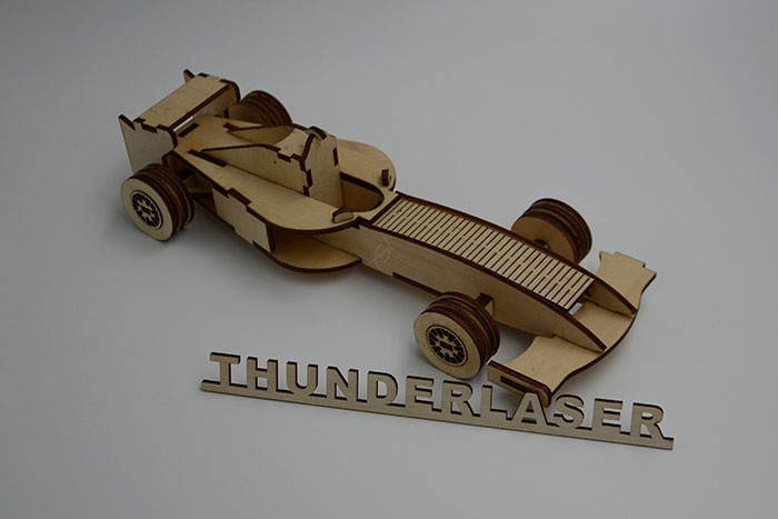 wood Racing car Лазерний станок для фанери