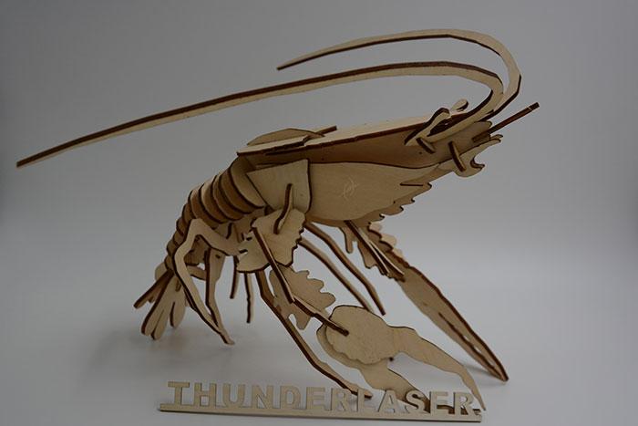 wood shrimp Лазерний станок для фанери
