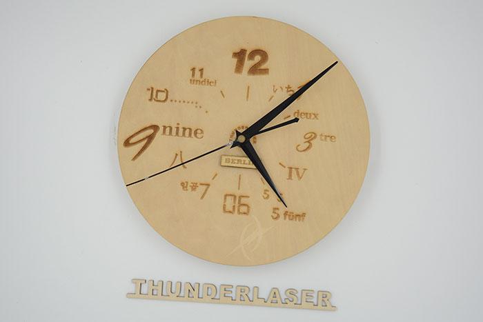 wood clock Лазерний станок для фанери