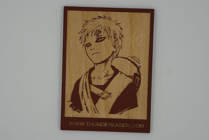 wood Naruto laser engraver
