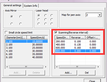 Engraving problem—how to Improve Engraving Quality in the  scan mode of X-swing