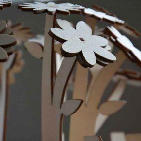 дизайн лазерного різання – Як зробити тривимірну квітку