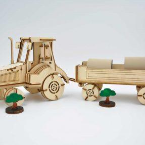 дизайн лазерного різання – Як зробити трактор